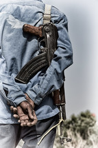 soldier in Africa with a rifle