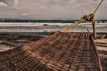a hammock on a beach