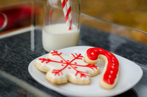 milk and cookies for Christmas