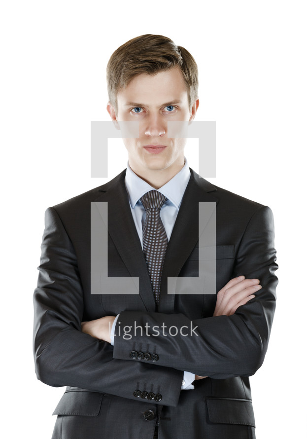 Businessman with a stern look.