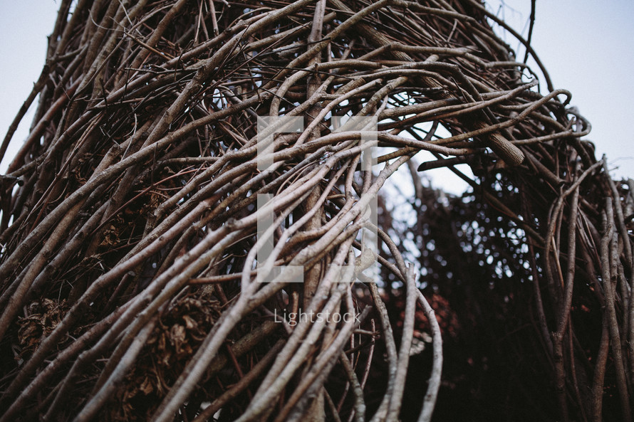 arch of woven sticks