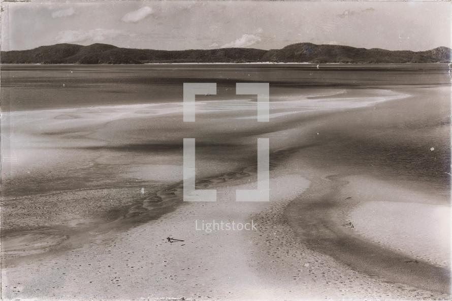 sand on a beach shore