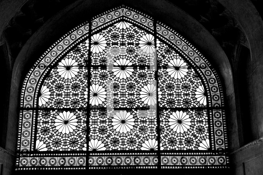 stained glass window in Iran