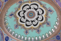 Suleyman Mosque ornate dome