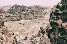 desert sand and cliffs of Petra