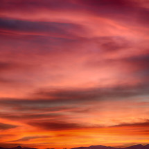 a vibrantly coloful sky at sunset