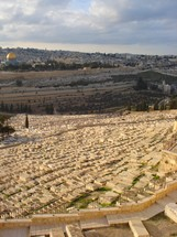 Jerusalem with Mt. of Olives cemetery in foreground