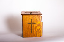 wooden offering box