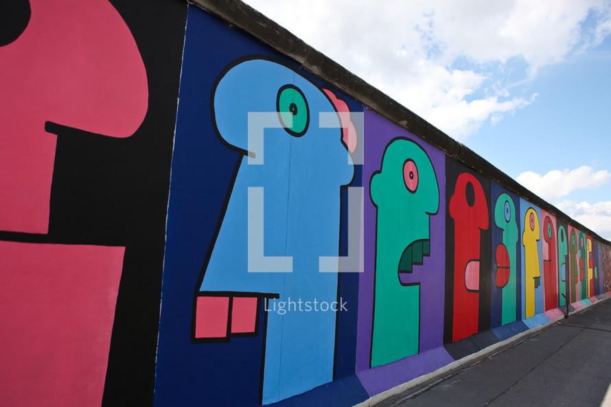 An art wall from Berlin Germany