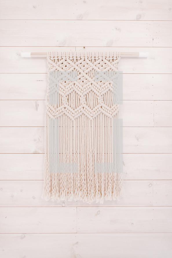 Knit macrame wall decor — Photo by Twigy Posts - Lightstock