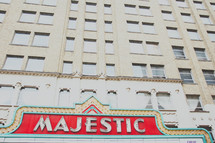Majestic Theater - Vintage City Sign