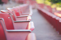Red Outdoor Theater Seating