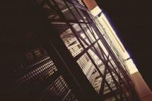 metal elevator cage