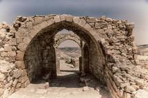 castle ruins in Jordan