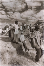 people walking to a celebration in Ethiopia
