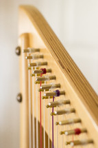 Close-up of Harp with White Background