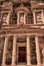 monastery in petra Jordan closeup