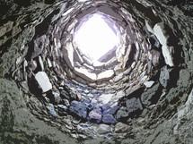 a deep well