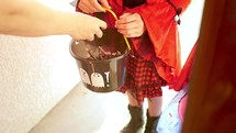 trick-or-treating for Halloween candy