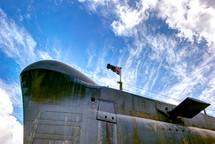 Submarine outside.