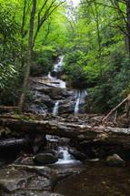 waterfall at Mount Mitchell