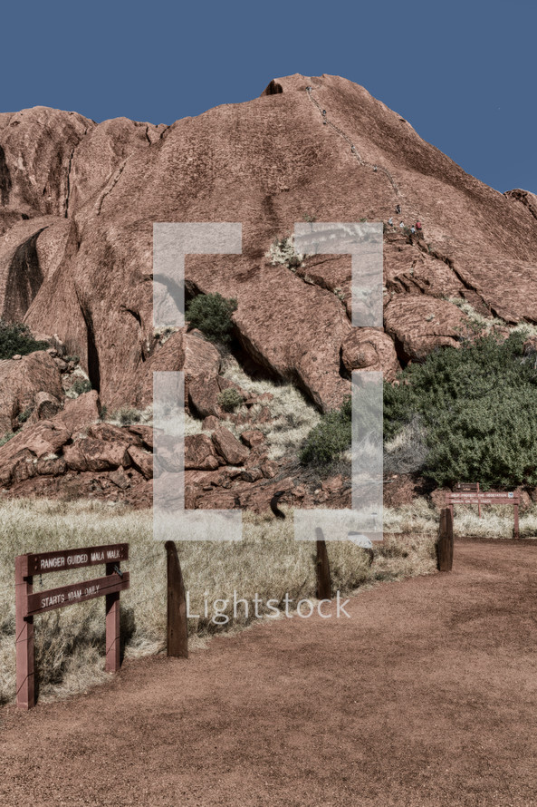 Sacred mountain and trail