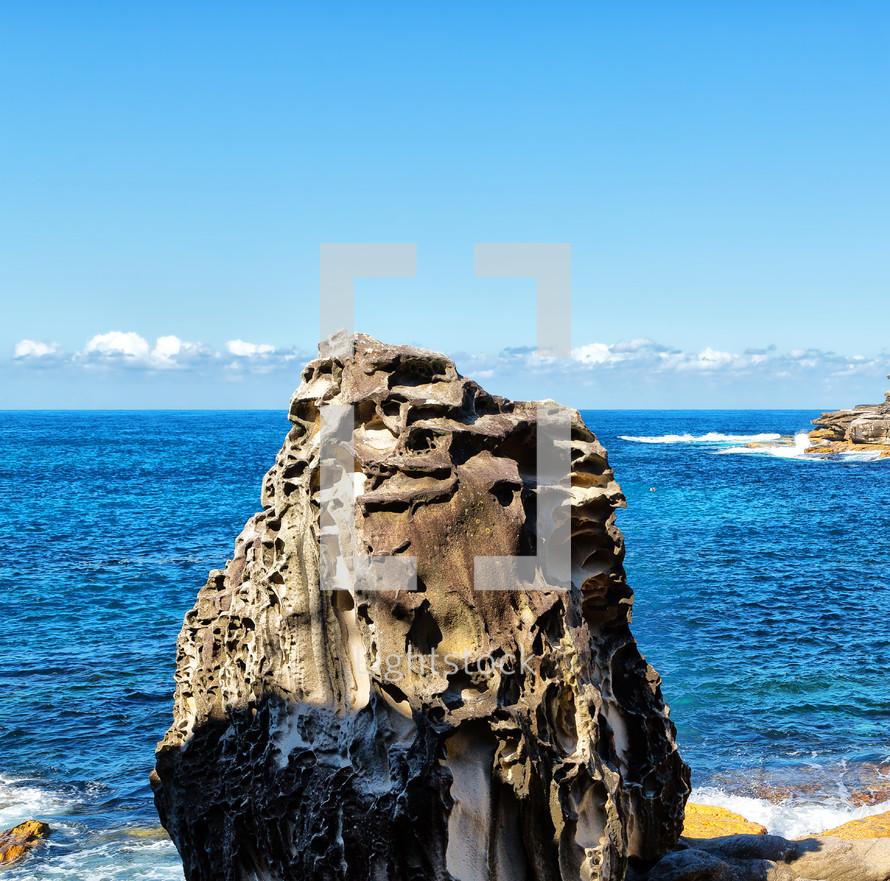 sea rock on a beach