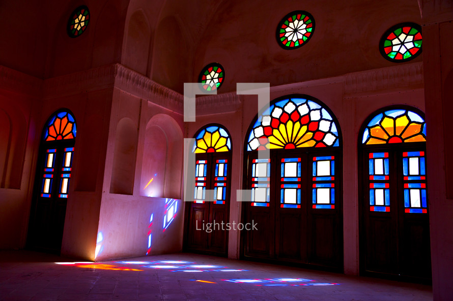 stains glass windows in Iran