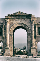 arch at the site of ancient ruins