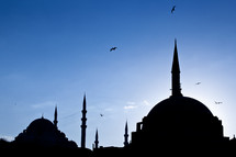 silhouette of Rustem Pasha Mosque