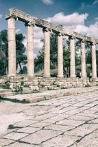 columns at ruins