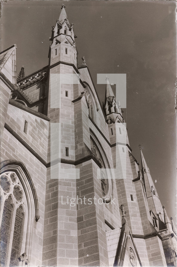 antique cathedral building