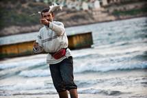 Muslim Turk fisherman