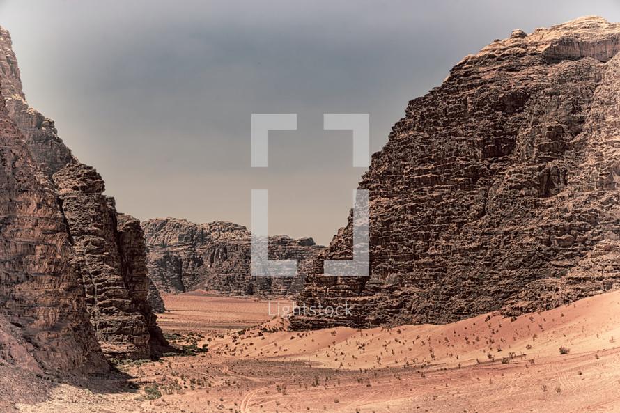 desert cliffs and sand