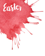Vector watercolor background with Easter hand lettering.