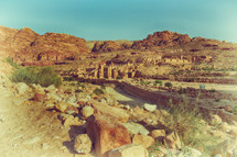 archeological site in Jordan with columns