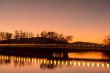 bridge lights over water
