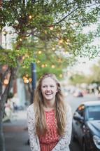 a teen girl's senior portrait