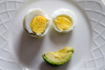 hard boiled eggs and avocado