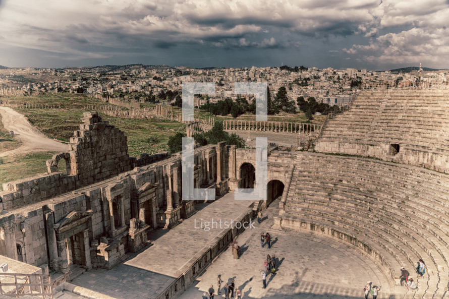 ruins of an ancient amphitheater