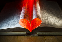 heart from the pages of a Bible