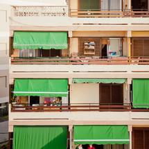 balconies in Tenerife, Spain