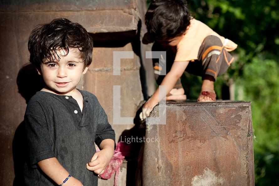 Kurdish, Kurd, Turk, Turkish village kid, children playing