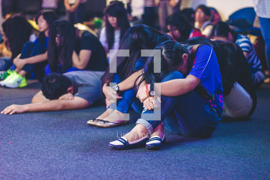 Youth praying.