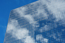 office tower cloud window reflections