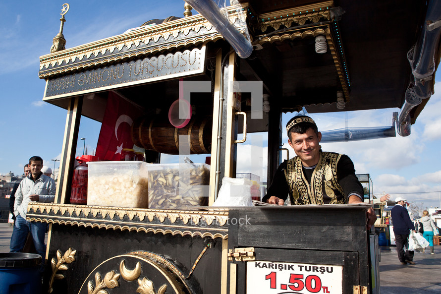 Turkish street vendor