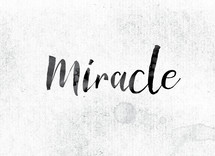 word miracle on white background