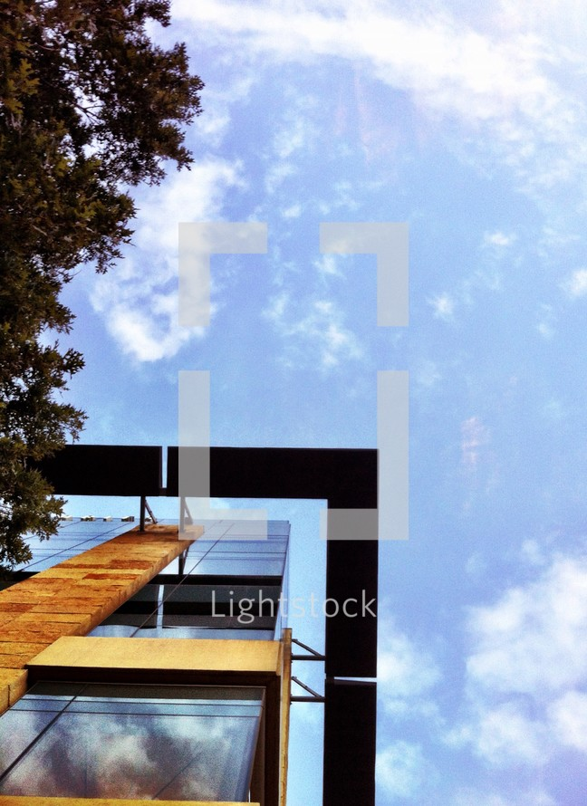 modern architecture and a blue sky