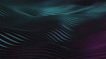Abstract looping magenta and teal textured waves