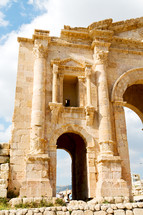 the antique archeological site classical heritage